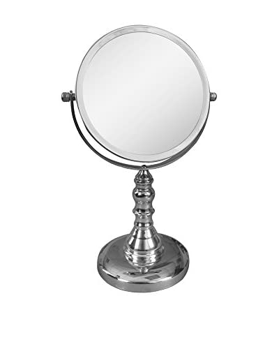 Elegant Home Freestanding Bath Magnifying Makeup Mirror with LED Light, Chrome