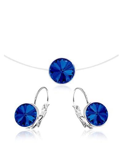 So Charm with Crystals from Swarovski Set laccio e orecchini  Blu