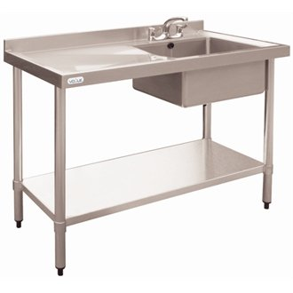 Vogue Stainless Steel Sink - 1200 x 600mm Right hand bowl