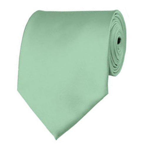 BRAND NEW Mens Necktie SOLID Satin Neck Tie Sage Green One size (Mens Sage Green Ties compare prices)