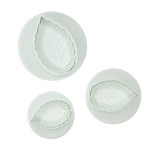 Fox Run Brands 67002 3-Piece Rose Leaf Fondant Plunger Cutter Set at Amazon.com