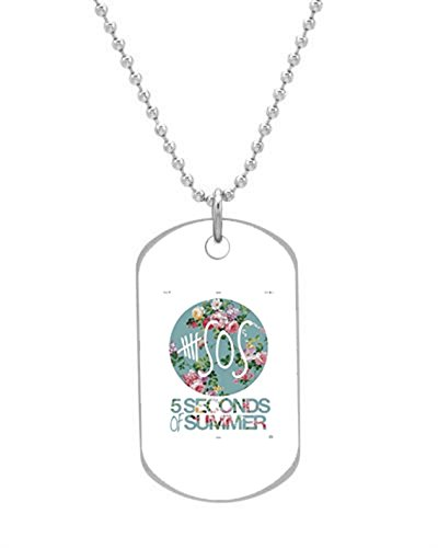 5sos on Pinterest Dog Tag (Bigger Size) Pet Tag Neck Chain Key Chain Aluminum Dog Tag Dimensions 1.3X2.2X0.1 inches ,Comes with 30″ inches beads chain
