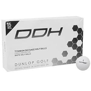 Dunlop 15 Pack DDH Ti Golf Balls White -