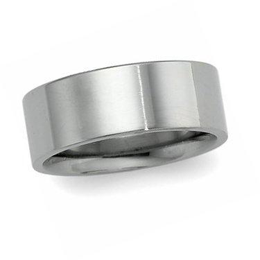 Titanium, Flat Comfort Wedding Band 8MM (sz 13.5)