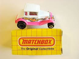 Matchbox White Pink Model a Hot Rod 55 1993 - 1