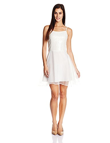 Miss Chase Women's Skater Dress (MCAW14D02-83-114_Off white_X-Large)