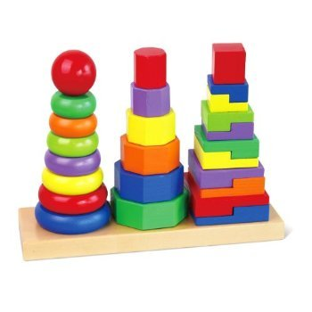 Viga Wooden Geometric Stacker