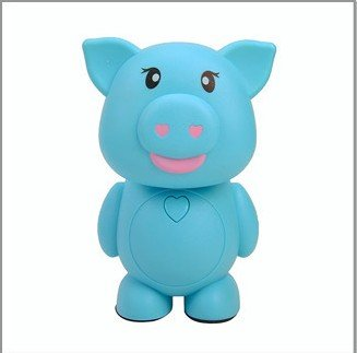 Cartoon Lovely Pig 16 Led Folding Table Lamp Personalized Bedroom Bedside Lamp Energy Saving Lamp Desk Lamp Reading Lamp Rechargeable Nigh Lamp Lovely Kid'S Night Light Eye Protection Lamp Home Decoration Lights(Blue)