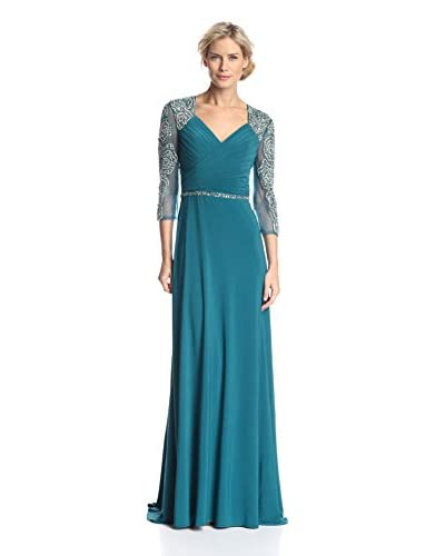 Terani Couture Women's Jewel Sleeve Gown