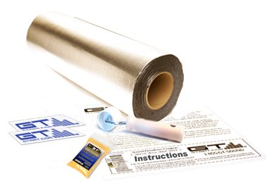 >>  GTMAT 12 sqft Automotive Sound Dampener 50mil Pro 2 Door Kit - Sound Deadening Installation Kit Includes: 12sqft Roll (3' x 4'), Instruction Sheet, Application Roller, Degreaser, GT MAT Decals