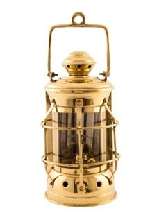 "Nautical Lamps - Brass Masthead Lantern - 10.5"" - Oil Lantern"
