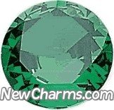 Round Birthstone May Floating Locket Charm by New Charms