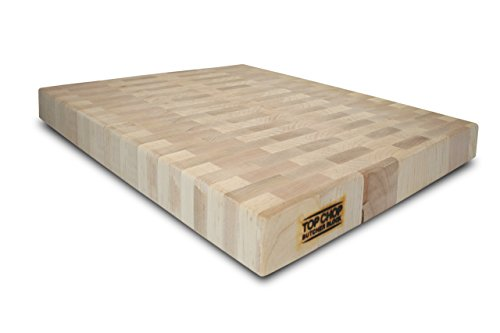 Top Chop Butcher Block Reversible End Grain Cutting Board, Maple, 24 x 18 x 2-Inches (Butcher Block Pattern compare prices)