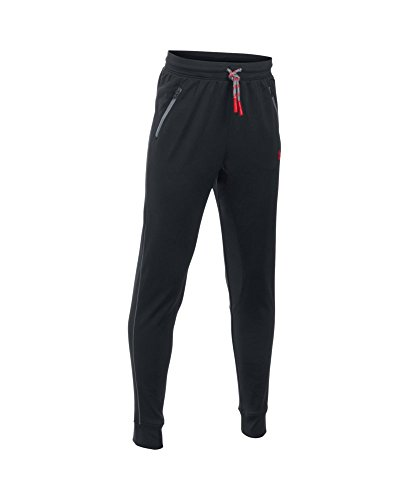 Under Armour Boys' Pennant Tapered Pants, Black (002), Youth Medium