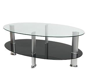 Ts ideen mesa auxiliar cristal y acero inoxidable - Glastisch oval ...