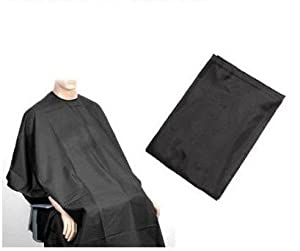 SODIAL(TM) Black Hair Cut Hairdressing Hairdressers Barbers Cape Gown