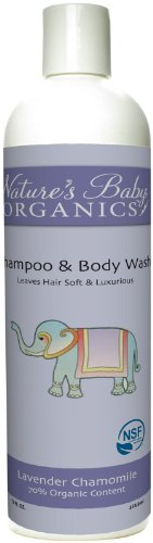 Nature's Baby Organics Shampoo and Body Wash, Lavender Chai, 12 Fluid Ounce - 1