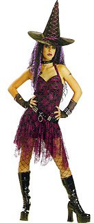 Goth Rockin Witch Adult Costume