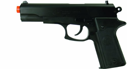 Colt Double Eagle Spring Airsoft Pistol w/ Target, BLACK