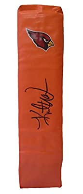 Kurt Warner Autographed / Signed Arizona Cardinals Full Size Logo Football Touchdown End Zone Pylon w/ Proof Photo & COA