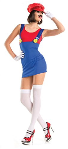 Costume Adventure Women's Sexy Super Mario Style Halloween Costume