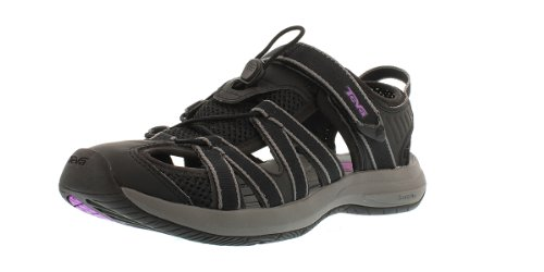 Teva Women's Rosa Black/Purple Sandal 10 B - Medium