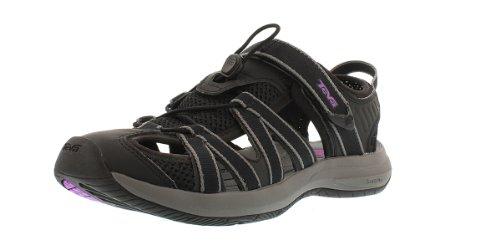 Teva Women's Rosa Black/Purple Sandal 10 B - Medium
