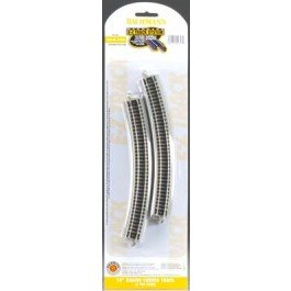 "Bachmann Industries E-Z Track Quarter Section 17.50"" Radius Curved Track (6/card) N Scale - 1"