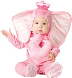 WMU - Pink Elephant Infant Costume 6-12 Months
