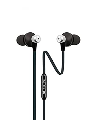 JLAB FIT-BLKBLU-BOX Sweatproof and Water Resistant Sport Earbuds with In-Wire Customizable Earhooks