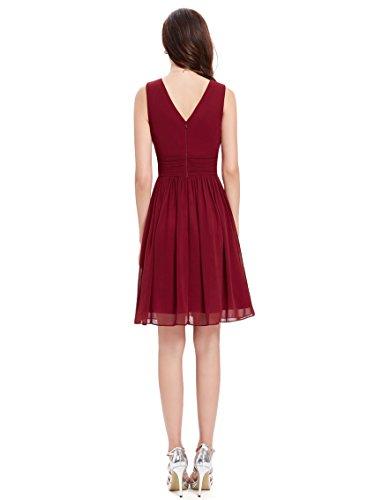 Ever pretty womens fall wedding guest dress 14 us burgundy for Maroon wedding guest dress