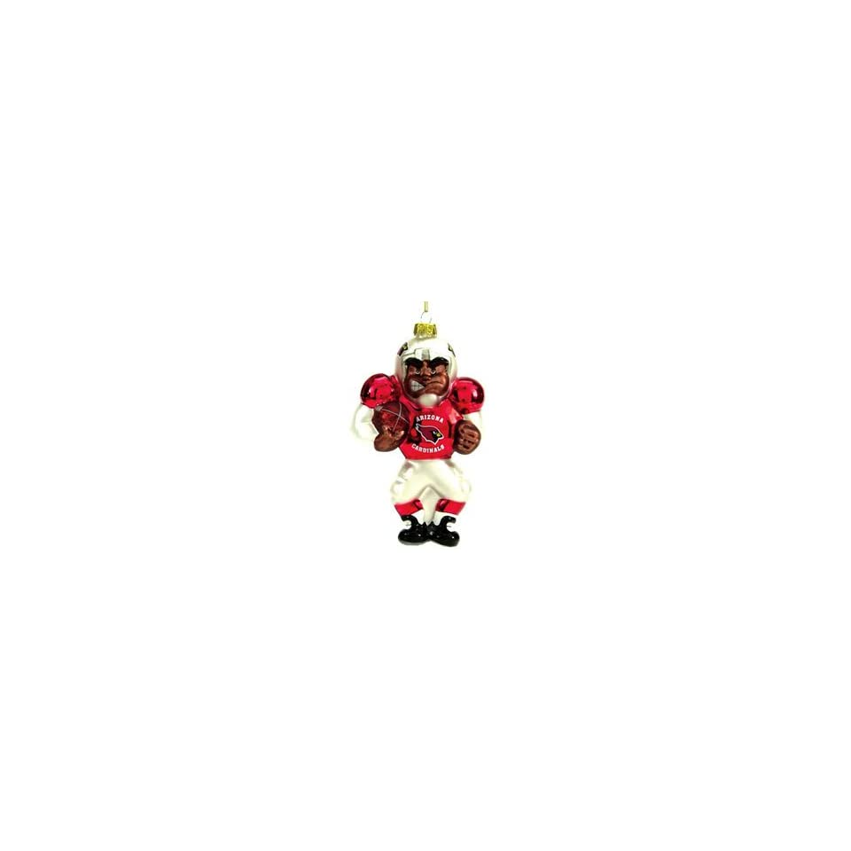 Arizona Cardinals NFL Glass Player Ornament (4 African
