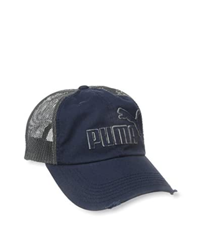 PUMA Men's Frat Tuck Washed Snapback Hat, Navy