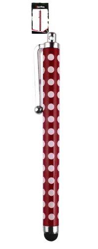 Emartbuy® Vonino Primus QS / Primus 94HD / Primus 94 3G 9.4 Zoll Tablet Rot Polka Dots TouchscreenhoherQualitätGummiTip-Stifts