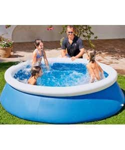 Quick up octagonal family pool 10ft blue for Obi quick up pool