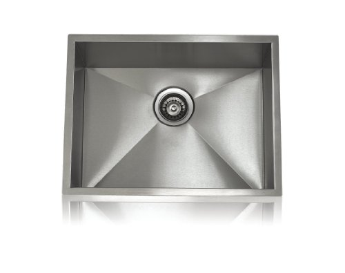 Lenova SS-0Ri-S3 Zero Radius Stainless Steel Single Bowl Undermount Kitchen Sink, Medium
