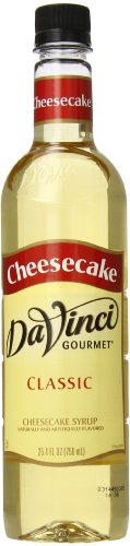 DaVinci Gourmet Classic Syrup, Cheesecake, 25.4 oz  (Pack of 6) (No Salt Cheese compare prices)