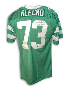 Joe Klecko Signed New York Jets Green Throwback Jersey - Sack Exchange at Amazon.com