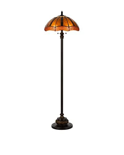 Bristol Park Lighting Tiffany 2-Light Floor Lamp, Oiled Bronze