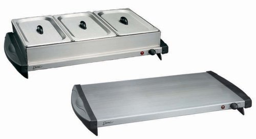 Cheap Deni 15100 Stainless-Steel 3-Section Buffet Server and Warming Tray (B000EOX298)