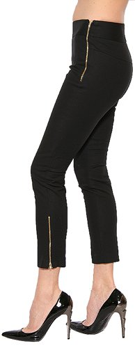 French Connection Women's Skinny Zip Trouser in Black Size 2 $138
