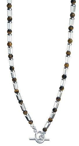 Fred Bennett Men's N2489 Tigers Eye Bead Necklace