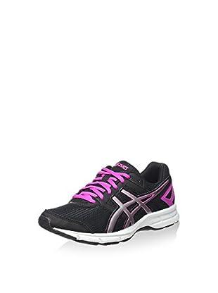 Asics Zapatillas de Running Gel-Galaxy 8 Gs (Negro / Plata / Rosa)