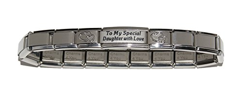 To my special Daughter with Love-Italiano-Bracciale 9 mm, per Zoppini Talexia Nomination pendenti e stile