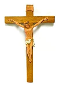 "Roman Fontanini 7"" Fontanini Wood tone Crucifix * Nativity Village Collectible 0283 at Sears.com"