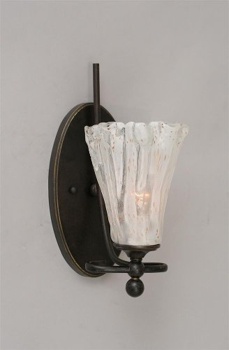 Toltec Lighting 3 Light Wall Sconce with 4 White Bubble Glass