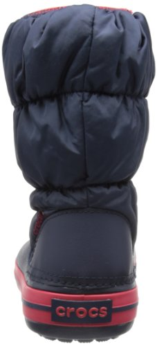 Crocs Winter Puff Unisex - Kinder Warm Schneestiefel, Blau (Navy/Red 485), 25/26 -