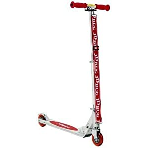 The Original JD Bug Folding Metal Scooter in Red
