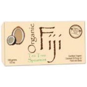 Tea Tree Spearmint Nourishing Cleanser For Face And Body 240Gram Bar - 100 Percent Certified Organic Coconut Oil Soap ( Multi-Pack)