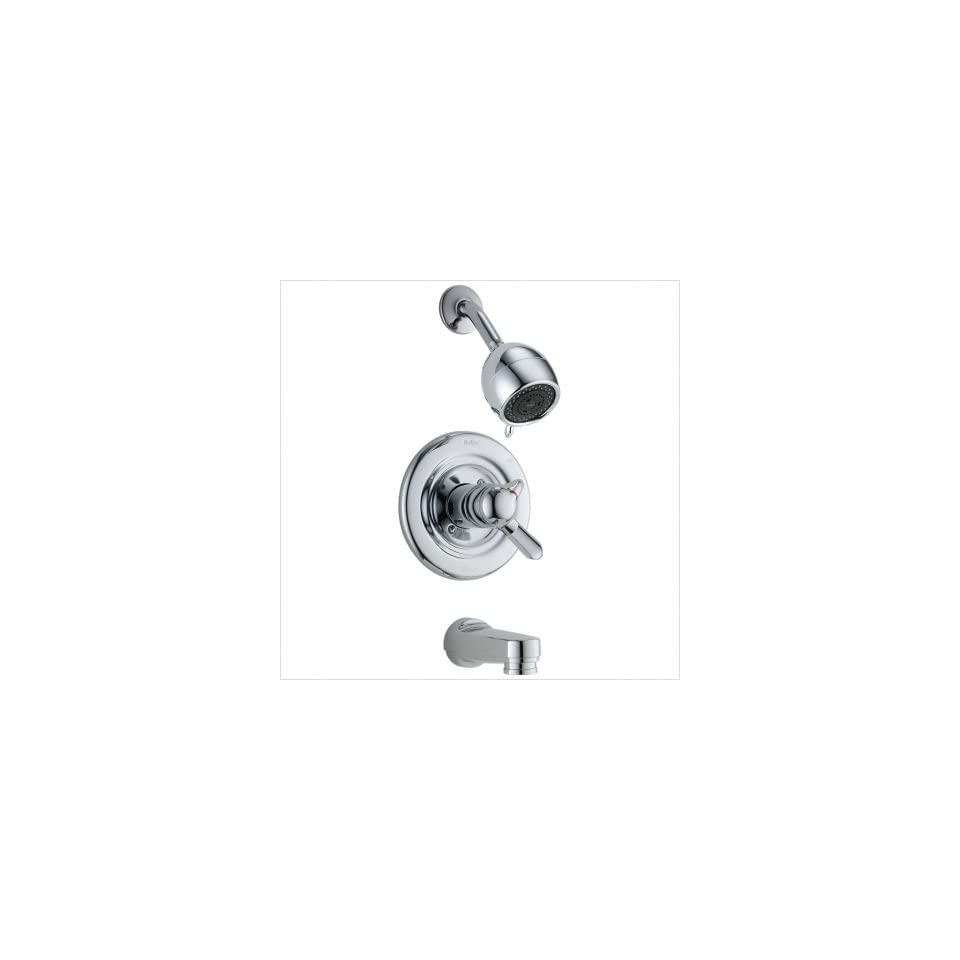 Bundle 62 Innovations Pressure Balanced with Volume Control Tub and Shower Trim (Set of 2) Finish / Spout Chrome / Spout Not Included